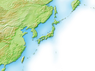 日本周辺地図のイラスト素材 [FYI01562756]