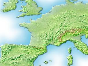 フランス周辺地図のイラスト素材 [FYI01562761]