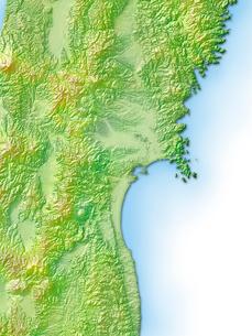宮城県地図のイラスト素材 [FYI01562800]