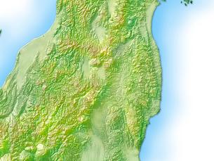 福島県地図のイラスト素材 [FYI01562806]