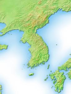 韓国周辺地図のイラスト素材 [FYI01562828]