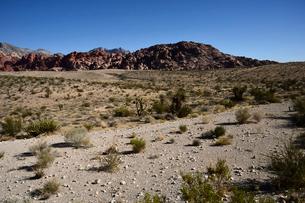 地層と色々な色の岩山が並ぶ景観の写真素材 [FYI01562872]
