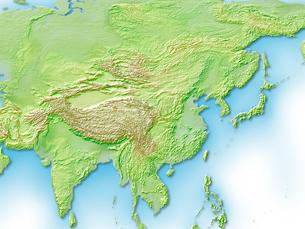 中国,台湾周辺地図のイラスト素材 [FYI01563044]