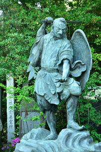 高尾山にある天狗の像の写真素材 [FYI01563116]