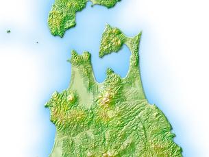 青森県地図のイラスト素材 [FYI01563146]
