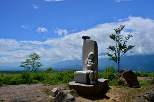 富士見高原創造の森彫刻公園の作品の写真素材 [FYI01563241]