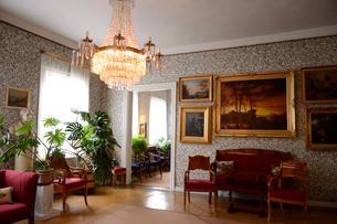 フィンランド国歌を作詞したルーネベリの家の室内の写真素材 [FYI01563388]