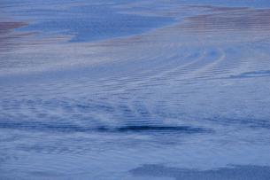 色々な模様が浮かぶ諏訪湖の湖面の写真素材 [FYI01563537]