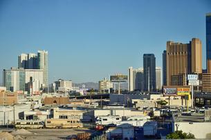 ラアスベガスの町のビル群の景観の写真素材 [FYI01563653]