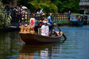 潮来あやめ祭りの嫁入り舟の写真素材 [FYI01563702]