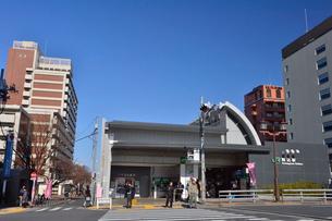 駒込駅北口駅前の写真素材 [FYI01563797]