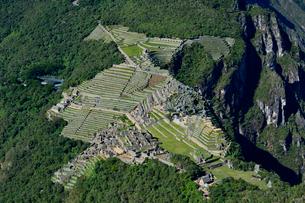 ワイナピチュ山から見たマチュピチュ遺跡の写真素材 [FYI01563802]