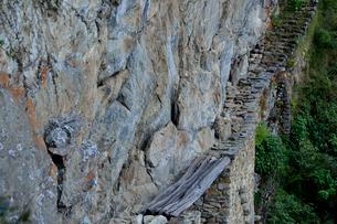 唯一残る木製の橋のインカ橋の写真素材 [FYI01563902]