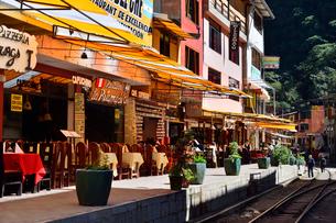マチュピチュ村の駅前レストランの写真素材 [FYI01563933]