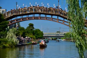 潮来あやめ祭りの嫁入り舟の写真素材 [FYI01563945]