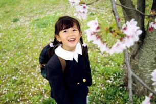 ランドセルを背負った子供の写真素材 [FYI01564015]