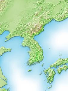 朝鮮半島周辺地図のイラスト素材 [FYI01564310]