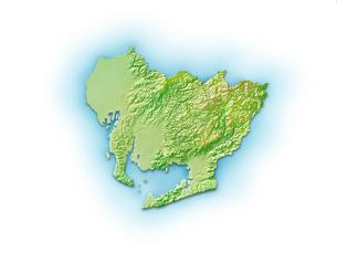 愛知県地図のイラスト素材 [FYI01564324]
