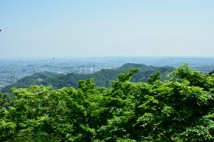 高尾山から見た家並みの写真素材 [FYI01564354]