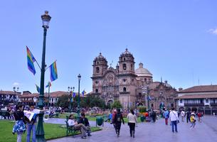 マルマス広場に立つ,ラ・コンパーニア・デ・ヘスス教会の写真素材 [FYI01564398]