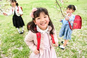 ランドセルを背負った女の子の写真素材 [FYI01567260]