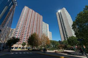 ニュージャージーウオーターフロント新興高層住宅街の写真素材 [FYI01570351]