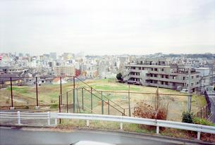 野毛山公園から眺めた空き地の在る横浜市外地の写真素材 [FYI01570396]