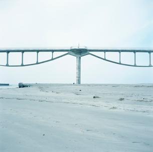 菊川河口の潮騒橋 自転車歩行者専用の写真素材 [FYI01570508]