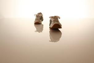 1足のスニーカーの写真素材 [FYI01571157]