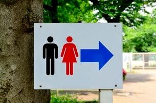トイレのサインの写真素材 [FYI01580675]