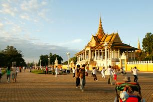 カンボジア王宮の写真素材 [FYI01580698]