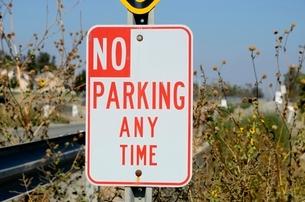常時駐車禁止の標識 の写真素材 [FYI01580883]