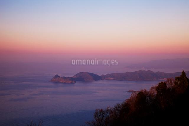 若狭湾の夕景の写真素材 [FYI01582757]