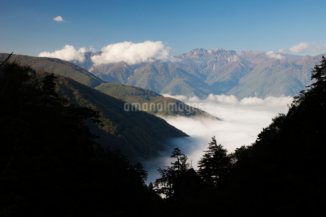 白山連峰と雲海の写真素材 [FYI01584266]