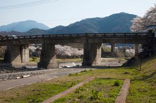 川上川と桜の写真素材 [FYI01584589]