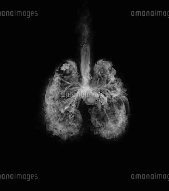 煙で作られた肺の写真素材 [FYI01585349]