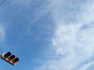 青空と信号機の写真素材 [FYI01585409]