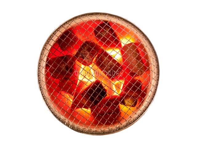 燃える炭の写真素材 [FYI01585519]