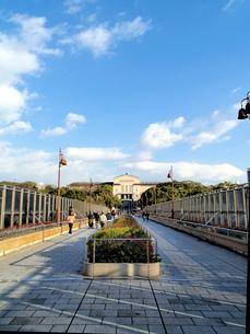 大阪市立美術館と青空の写真素材 [FYI01586317]