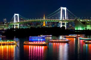 お台場から見た東京の夜景の写真素材 [FYI01586322]