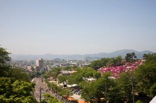 鯖江市の町並と西山公園の写真素材 [FYI01586533]