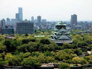 大阪城と新緑の大阪城公園の写真素材 [FYI01586782]