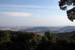 圓教寺より姫路市内を望むの写真素材 [FYI01589475]