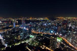 東京タワーから見た東京の夜景の写真素材 [FYI01589683]