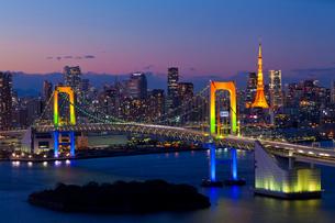 フジテレビ球体展望室から見た東京の夜景の写真素材 [FYI01590639]