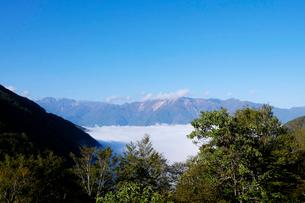 白山連峰と雲海の写真素材 [FYI01591386]
