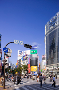 渋谷駅前交差点の写真素材 [FYI01592045]