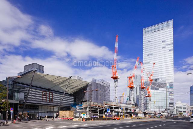 建設中の東京駅八重洲口の写真素材 [FYI01592415]