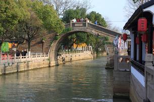 蘇州 寒山寺風景区江村橋の写真素材 [FYI01592964]