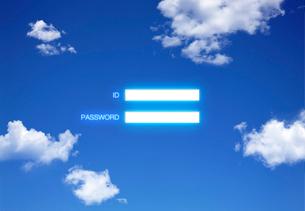 青空に浮かぶIDとパスワードの写真素材 [FYI01594248]